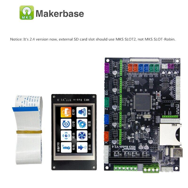 Carte mère de contrôleur de Robin de carte mère de circuit intégré de MAKERBASE STM32 MKS Robin avec le logiciel de source fermée d'affichage de TFT - 3
