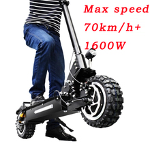 2018 Newest Gotway Electric scooter Dual motor drive, maximum 1600W Cross-country wide foetus 70-80km/h DT scooter two wheel
