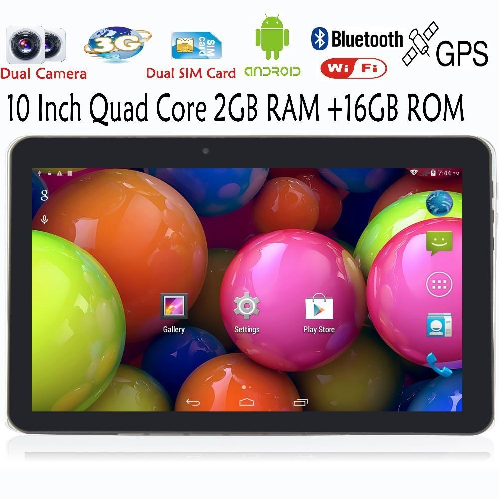 Prix pour 10 Pouce D'origine 3G Appel Téléphonique Android Quad Core Tablet pc Android WiFi Écouteur Jack FM Bluetooth 2G + 16G NiceTablets 7 8 9