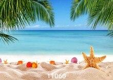 SJOLOON 바다 쪽 해변 나무 하늘 아이 아기 신생아 배경 그림 photocall 스튜디오 소품 여름 사진 배경