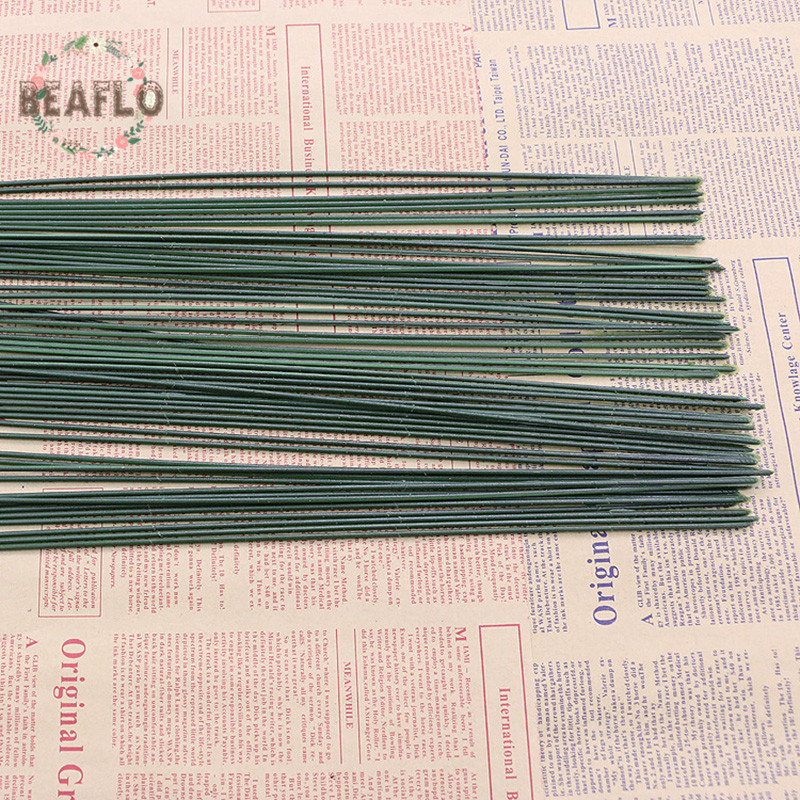 100PCs DIY Artificial Flower Rod Wire Accessories Wedding Archway Floristry Craft 40cm Length