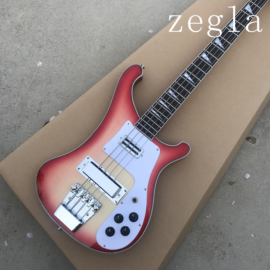 2019 best bass top quality rick 4003 model ricken 4 strings electric bass guitar in cherry burst. Black Bedroom Furniture Sets. Home Design Ideas