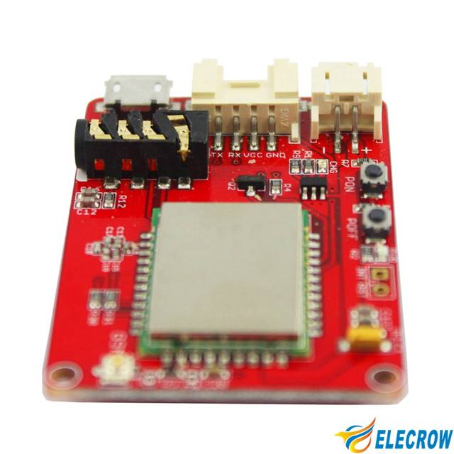 US $14 39 10% OFF Elecrow A6 GPRS GSM Module for Arduino Electronics  Integrated Circuit Quad band M2M Application Smart A6 gprs/gsm DIY Kit-in