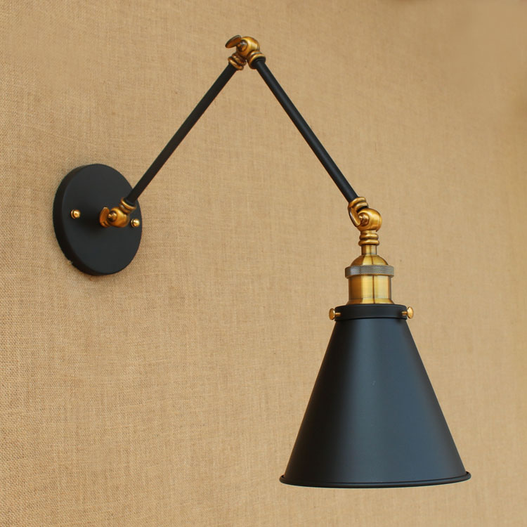 Adjustable Swing Long Arm Wall Lamp Vintage Dinning Room Stair Light Loft Style Industrial Wall Sconce Applique LED