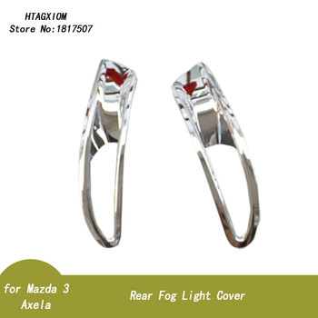 for Mazda 3 Axela Sedan 2014 -2017 Rear Tail Fog Light Lamp Cover Trim ABS Chrome Car Styling Stickers Auto Accessories 2 Pcs image