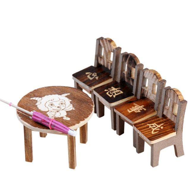 Tienda Online Mini casa de muñecas de madera miniatura Muebles mini ...