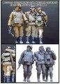 Frete Grátis 1/35 Scale Figura da Resina soldados de infantaria russa e feridos tankman