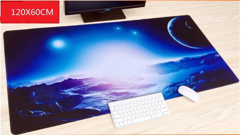 WESAPPA 120 cm x 60 cm tapis de souris XXL grand tapis de souris de jeu bureau Anime table de bureau décor clavier grand tapis pour CS GO DOTA GAMER