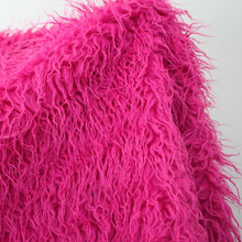 Hot Pink  Mongolian Curly Sheep Faux Fur Fabric  Faux Vest  Fur Coat   Baby Photography Props  Sold By The Yard  Free Shipping