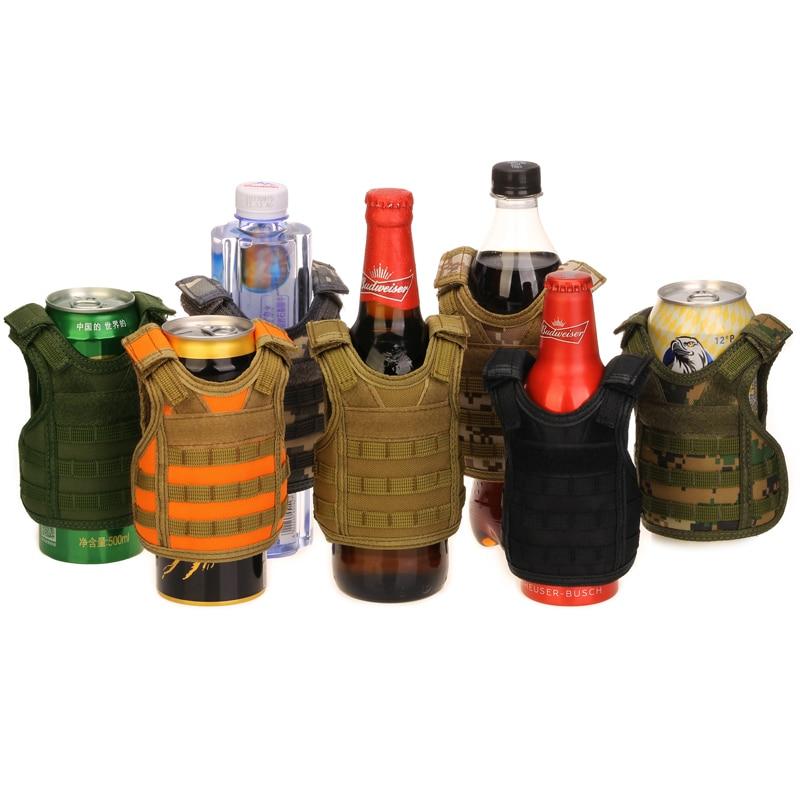 Independent Tactical Beer Military Molle Vest Mini Miniature Wine Bottle Cover Vest Beverage Cooler Adjustable Shoulder Straps Camping & Hiking