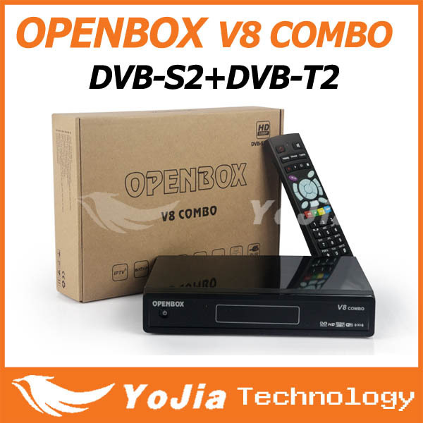 Original Openbox V8 Combo Satellite Receiver DVB-S2+DVB-T2 Support Cccamd Newcamd Youtube Youporn Google Map USB Wifi DLNA Post