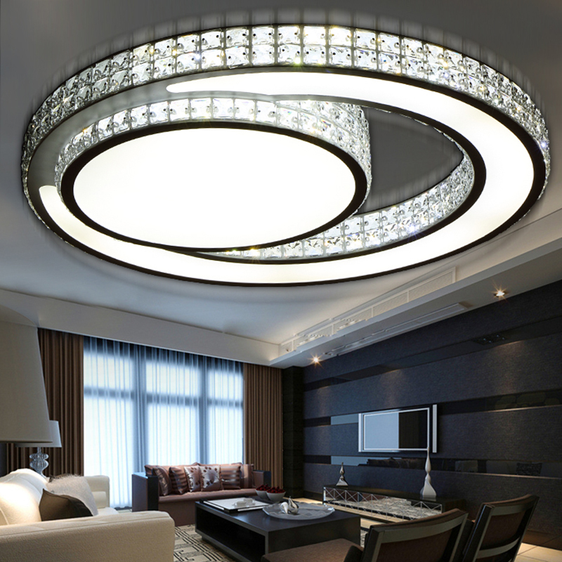 Hot crystal modern led ceiling lights for living room bedroom home indoor decoration led ceiling lamp lighting light fixtures luxury crystal led ceiling lights restaurant aisle living room balcony lamp modern lighting for home decoration adjustable light