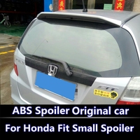 For Honda Jazz Fit Spoiler High Quality ABS Material Car Rear Wing Primer Color Rear Spoiler for Honda Fit Small Spoiler