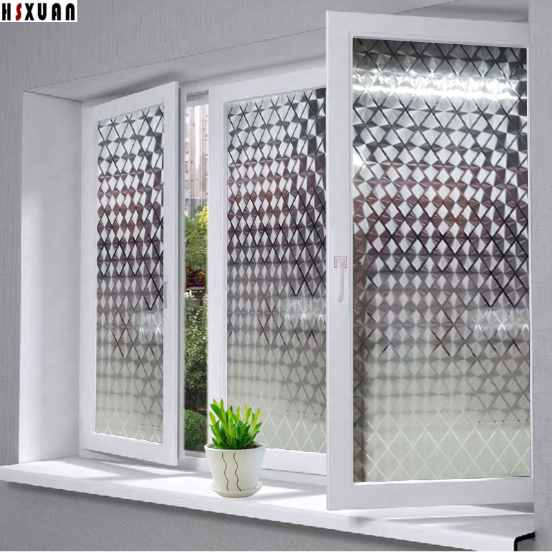 92x100cm 3D window film PVC frosted opaque privacy decorative home  decoration self sticking glass sticker Hsxuan. Online Get Cheap Glass Window Stickers  Aliexpress com   Alibaba Group