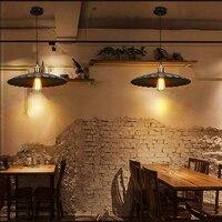 Loft vintage pendant lights Iron Pulley Lamp Bar Kitchen Home Decoration E27 E26 Edison Light Fixtures Free Shipping