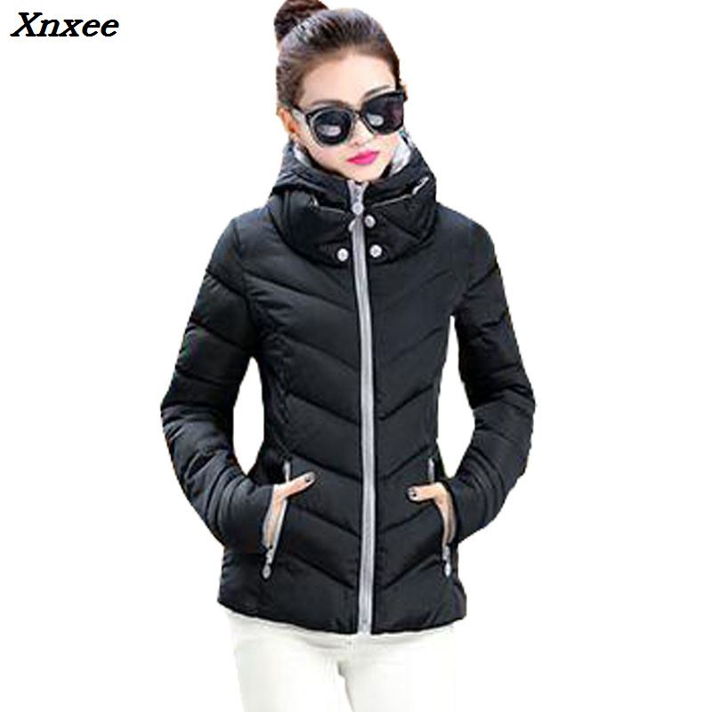 2018 New Fashion Down & Parkas Warm Winter Coat Women Light Thick Winter Plus Size Hooded Jacket Female Femme Outerwear Xnxee
