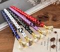 Crystal Pen Big diamond Ballpoint pen Gem wedding office supplies Gift metal Luxury crystal element roller ball pen Rose gold