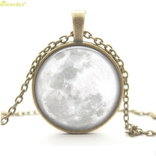 Diomedes Newest Luxury Necklace Luxury Full Moon Necklace Moon Pendant Space Galaxy Moon Jewelry Necklace Sweater Chain Necklace