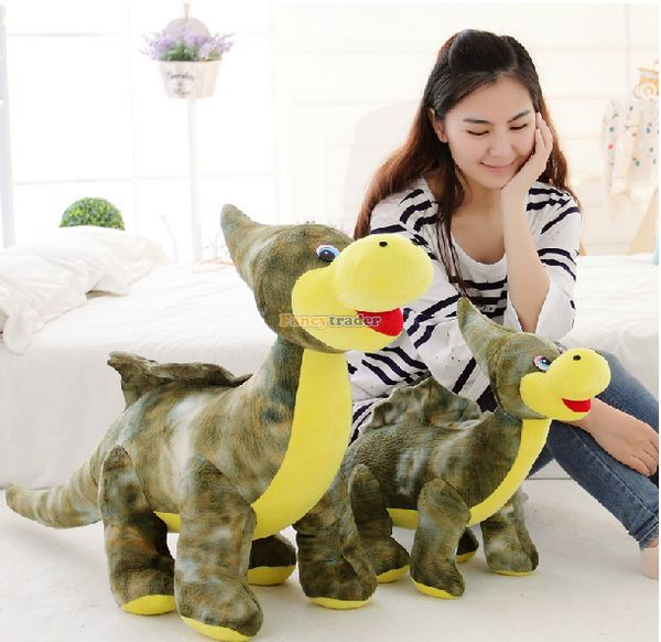 Fancytrader 47'' / 120cm Giant Plush Soft Cute Stuffed Animal Dinosaur Toy, Great Gift For Kids, Free Shipping FT50264 fancytrader 2015 novelty toy 24 61cm giant soft stuffed lovely plush seal toy nice gift for kids free shipping ft50541
