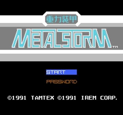 Metal Storm (J) 60 Pins 8 Bit Game Card
