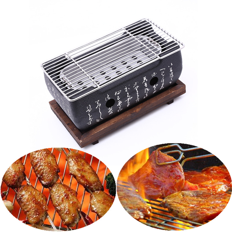 Japanese Korean BBQ Grill Oven Aluminium Alloy Charcoal Grill Portable Party Accessories Household Barbecue Tools churrasqueira para fogão
