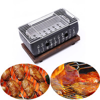 Japanese Korean BBQ Grill Oven Aluminium Alloy Charcoal Grill Portable Party Accessories Household Barbecue Tools