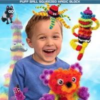 400 Pcs Magic DIY Puff Ball Squeezed Block Toy Set Kids Funny Assembling Thorn 3D Models