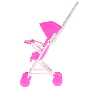Image 3 - Baby Stroller Infant pink Carriage Stroller Trolley Nursery Toy For Doll Dollhouse Miniature Baby Gifts for Baby Girls