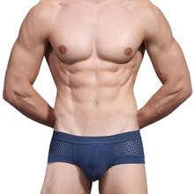 New Mens Underwear Sexy Mesh Triangle Breathable Underpants