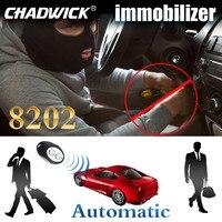 Inmovilizador inalámbrico RFID  cerradura del motor del coche  botón de arranque  sistema de entrada sin llave  auto inmoviliza CHADWICK 8202