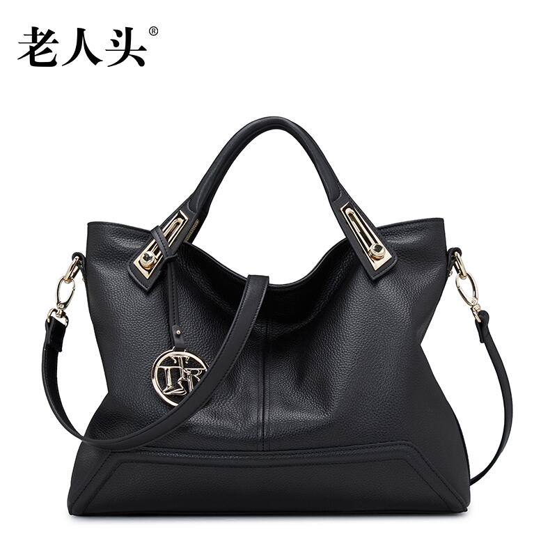 13e47610ea Famous brands top Cow Leather women bag Fashion Shoulder Messenger Bag 2016  new casual high capacity bag Commuter bag-in Top-Handle Bags from Luggage    Bags