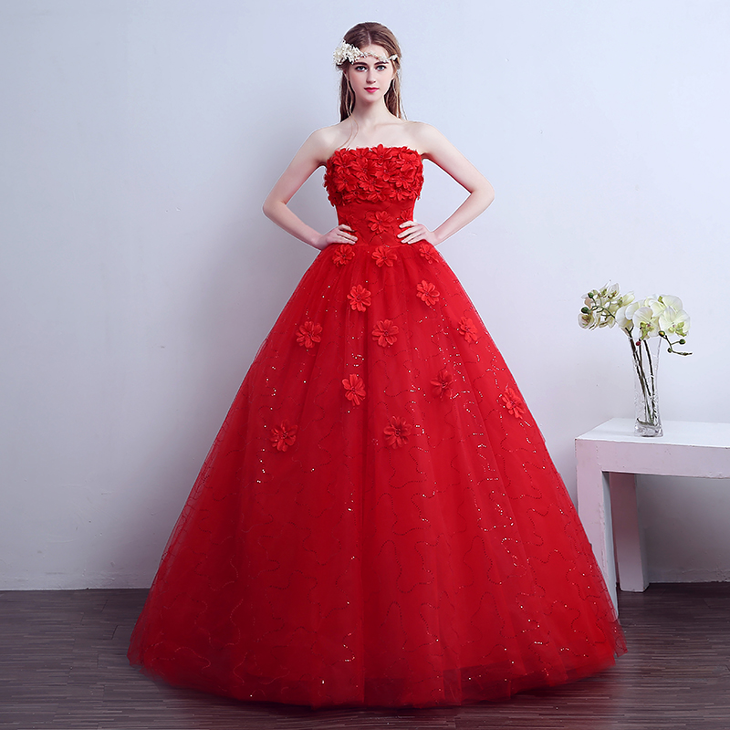 Lamya Real Photos Plus Size Pearl Wedding Dress Customized Vintage Flowers Tulle Bridal Ball Gown
