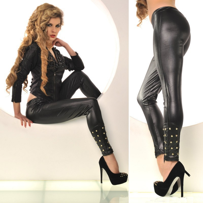 Sexy Leather Leggings - Trendy Clothes