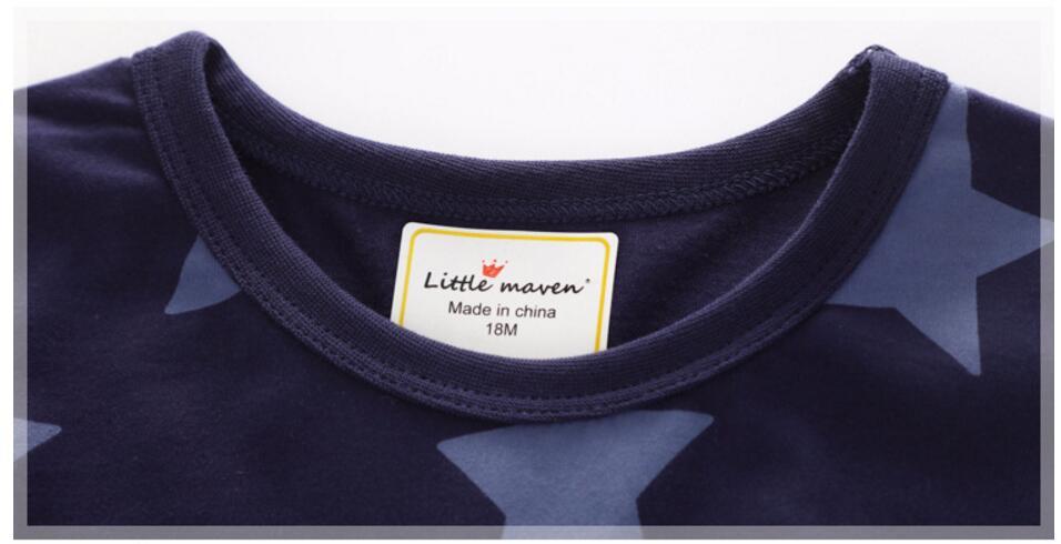 Małe maven dzieci 2018 letnich chłopców ubrania z krótkim - Ubrania dziecięce - Zdjęcie 4