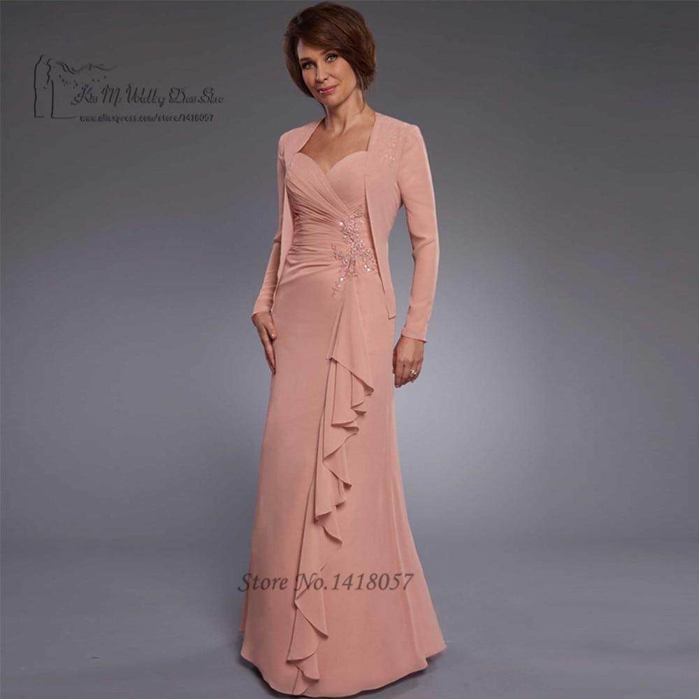 Vieja de Color Rosa Madre de la Novia con la Chaqueta de Encaje Con ...