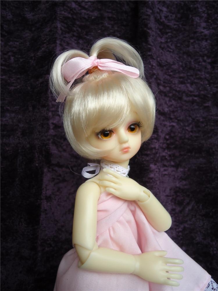 JD002 Lati white bjd doll wig 3-4 inch tiny doll Synthetic Mohair BJD Wigs Fountain Lovely doll wigs 1 3 1 4 1 6 1 8 1 12 bjd wigs fashion light gray fur wig bjd sd short wig for diy dollfie