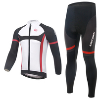 New arrival!! 2015 Men's black/red Sport Cycling Clothing Long Sleeve Cycling Jersey 3D padded bike clothing