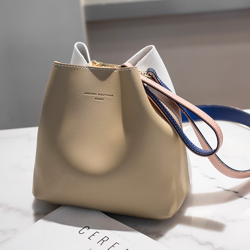 Image 4 - 2019 New Designer Women Handbags PU Leather Bucket Shoulder Bags Female Fashion Larger Capacity Crossbody Messenger Bags Girls-in Top-Handle Bags from Luggage & Bags