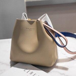 Image 4 - 2020 New Designer Women Handbags PU Leather Bucket Shoulder Bags Female Fashion Larger Capacity Crossbody Messenger Bags Girls