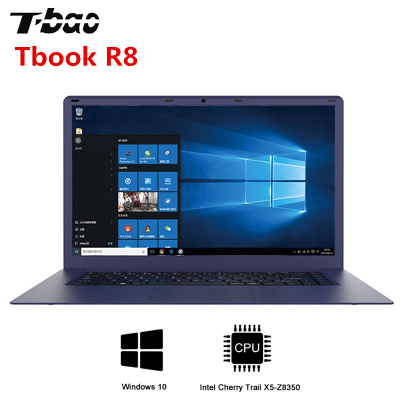 T Бао Tbook R8 ноутбука 15,6 дюйма Windows 10 Intel Cherry Trail X5 Z8350 Процессор 4 ядра компьютер 4 ГБ DDR3L 64 ГБ EMMC Тетрадь