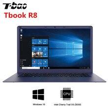T-Бао Tbook R8 ноутбука 15,6 дюйма Windows 10 Intel Cherry Trail X5-Z8350 Процессор 4 ядра компьютер 4 ГБ DDR3L 64 ГБ EMMC Тетрадь