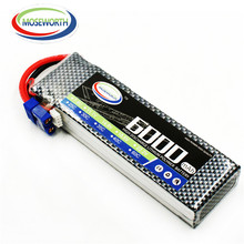 MOSEWORTH 2S 7.4V 6000mAh 60C RC LiPo Battery AKKU Higher endurance For Airplane Helicopter  XT60 Plug with Drone tcb rc drone lipo battery 4s 14 8v 2200mah 25c for rc airplane car helicopter akku 4s batteria cell free shipping