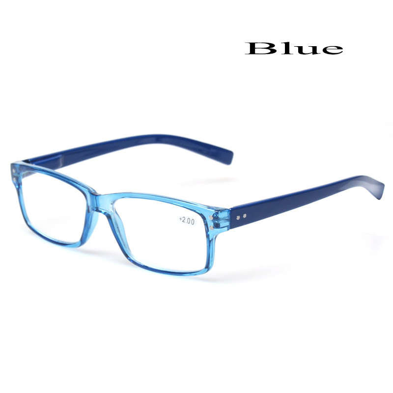 2018 Fashion Clear Plastic Men and Women Reading Glasses Rectangular - Apparel Accessories - Photo 4