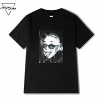 Aelfric Eden Hot Sale Large Size Funny Old Man Printed Mens T Shirt Baggy O Neck