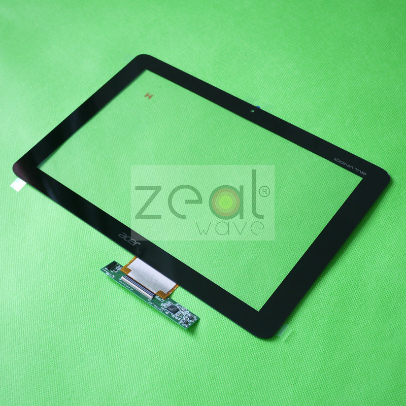 Black Touch Screen Glass Panel 10.1inch for Acer Iconia Tab A200 original new 10 1 inch touch panel for acer iconia tab a200 tablet pc touch screen digitizer glass panel free shipping