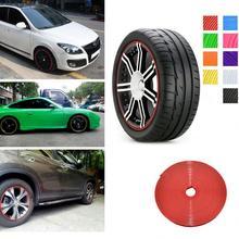 Nuovo 8 m Car Styling Pneumatico della gomma Cura dei cerchioni Protezione Mozzo della Ruota Adesivi Striscia per BMW VW Golf 4 Opel Astra toyota Mazda Accessori