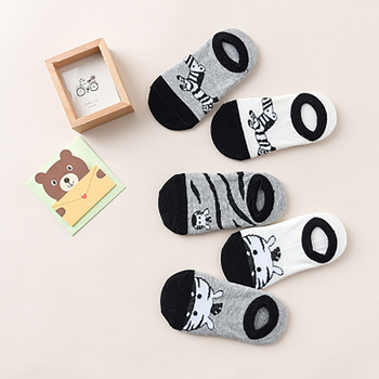 5 PairLot 2019 Newborn Kids Socks Kawaii Animal Print Socks Cotton Autumn And Winter Children Socks Baby Socks 1