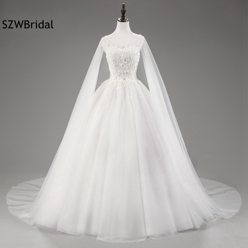 New Arrival White Ivory wedding dress 2019 Vestido de noiva Ball gown Wedding dresses casamento robe de mariee Wedding gowns