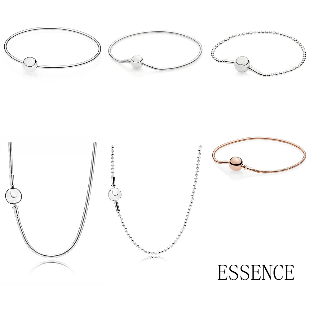 NEW Top Quality 100% 925 Sterling Silver Essence Series Bracelet Suitable For Women Original Charm Fit Diy Necklace Bead ChainNEW Top Quality 100% 925 Sterling Silver Essence Series Bracelet Suitable For Women Original Charm Fit Diy Necklace Bead Chain