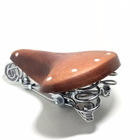 E0980  High quality comfortable and durable restoring ancient ways is old bicycle seat pure leather saddle bicycle accessories
